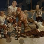 Картина Алексея Акиндинова «Ледовые рыцари», 100х182,5см, холст, масло. 2010-2011гг.