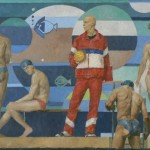 Картина Александра Оконечникова «Олимпийцы», 53,5х98,5см, холст, масло. 2006г.с.