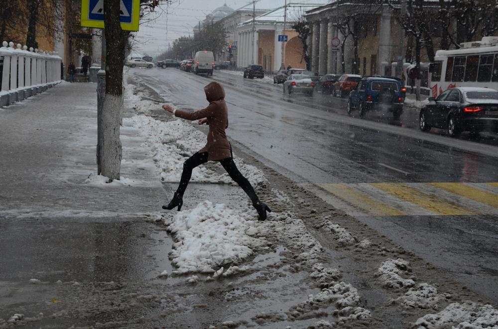 В Рязань пришла зима... Фото Александра Королева.