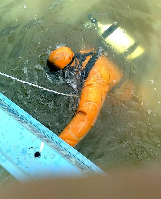 Поисковая операция рязанского МЧС в районе затопления лодки. Фото пресс-служба ГУ МЧС Рязанской области.