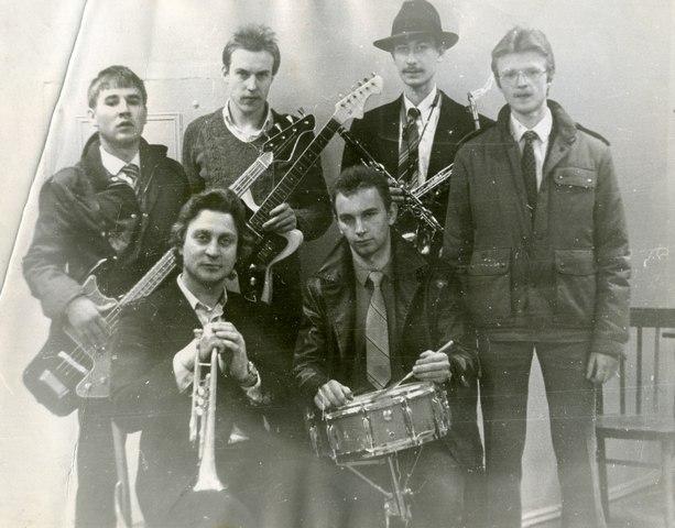 В подвале Радиоинститута с трубачом Анатолием Петровым, 1984