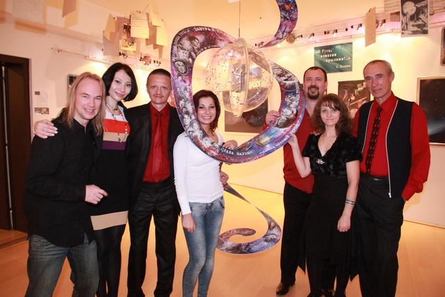 """2011 год, В РЦНК в Брюсселе, фестиваль """"Капитан Земли"""", с Александрой Шетраковой"""