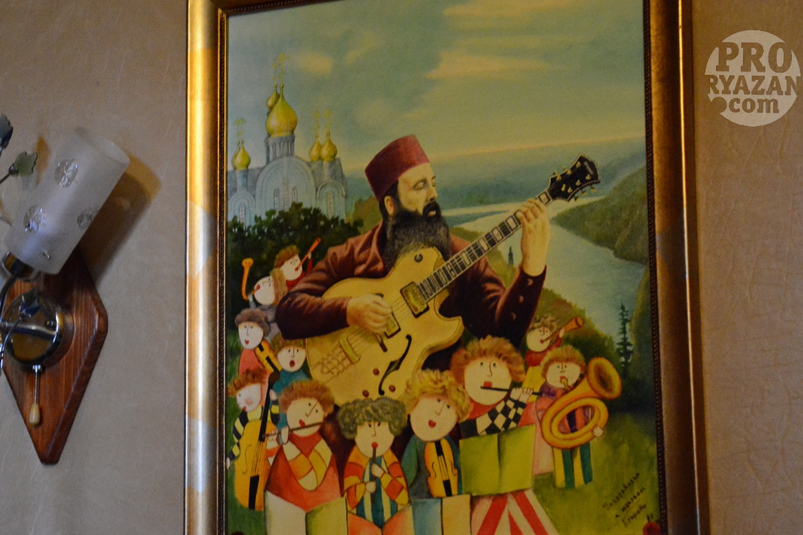 Музыкант, архитектор, владыка, схимник Иванников. Автор рисунка один из прихожан.