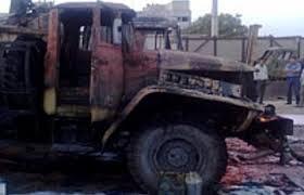 грузовик сгорел