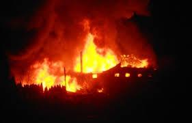 пожар в городе