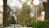 Рязанские водители устроили парковку в «пьяном парке»