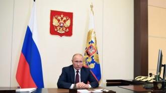Президент РФ В. Путин провел встречу с министром обороны РФ С. Шойгу