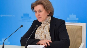 Russia's Chief State Sanitary Physician Popova gives press briefing in Moscow